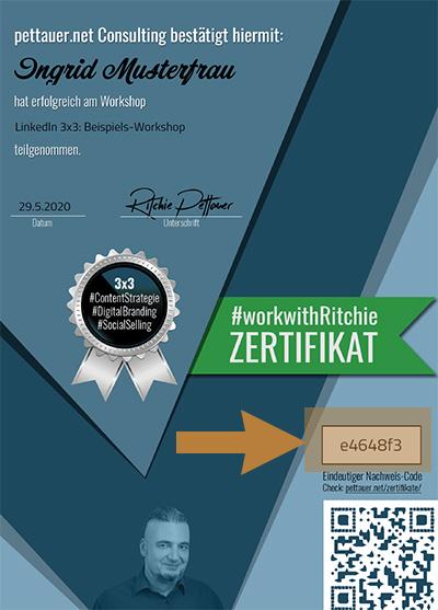 #workwithRitchie Zertifikat